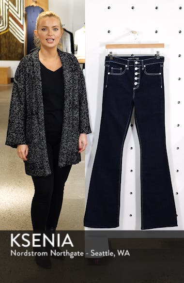 Beverly Button Fly Skinny Flare Jeans, sales video thumbnail