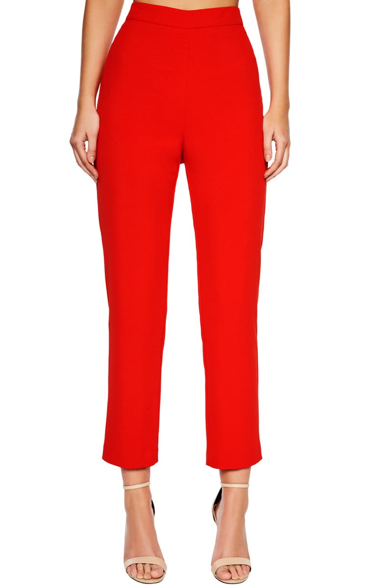 BARDOT Zalia Slim Leg Pants, Main, color, 610