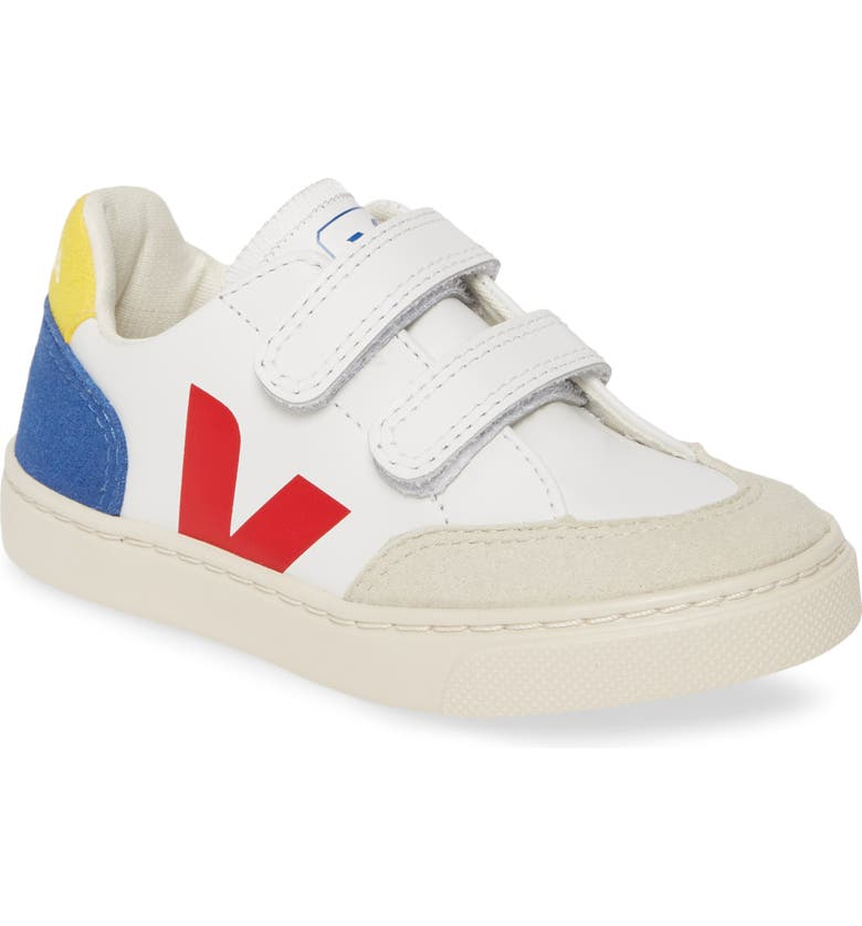 VEJA V-12 Sneaker, Main, color, EXTRA WHITE/ MULTI/ BLUE