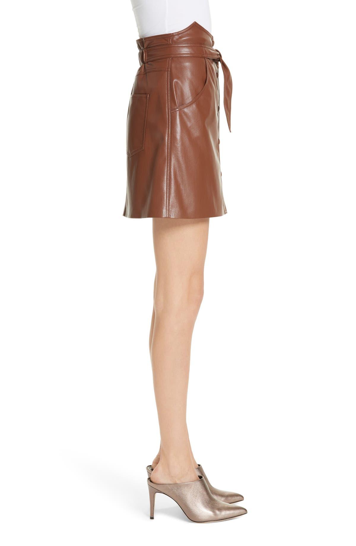 a5bdb96f13d6 Nanushka Chai Faux Leather A-Line Skirt | Nordstrom