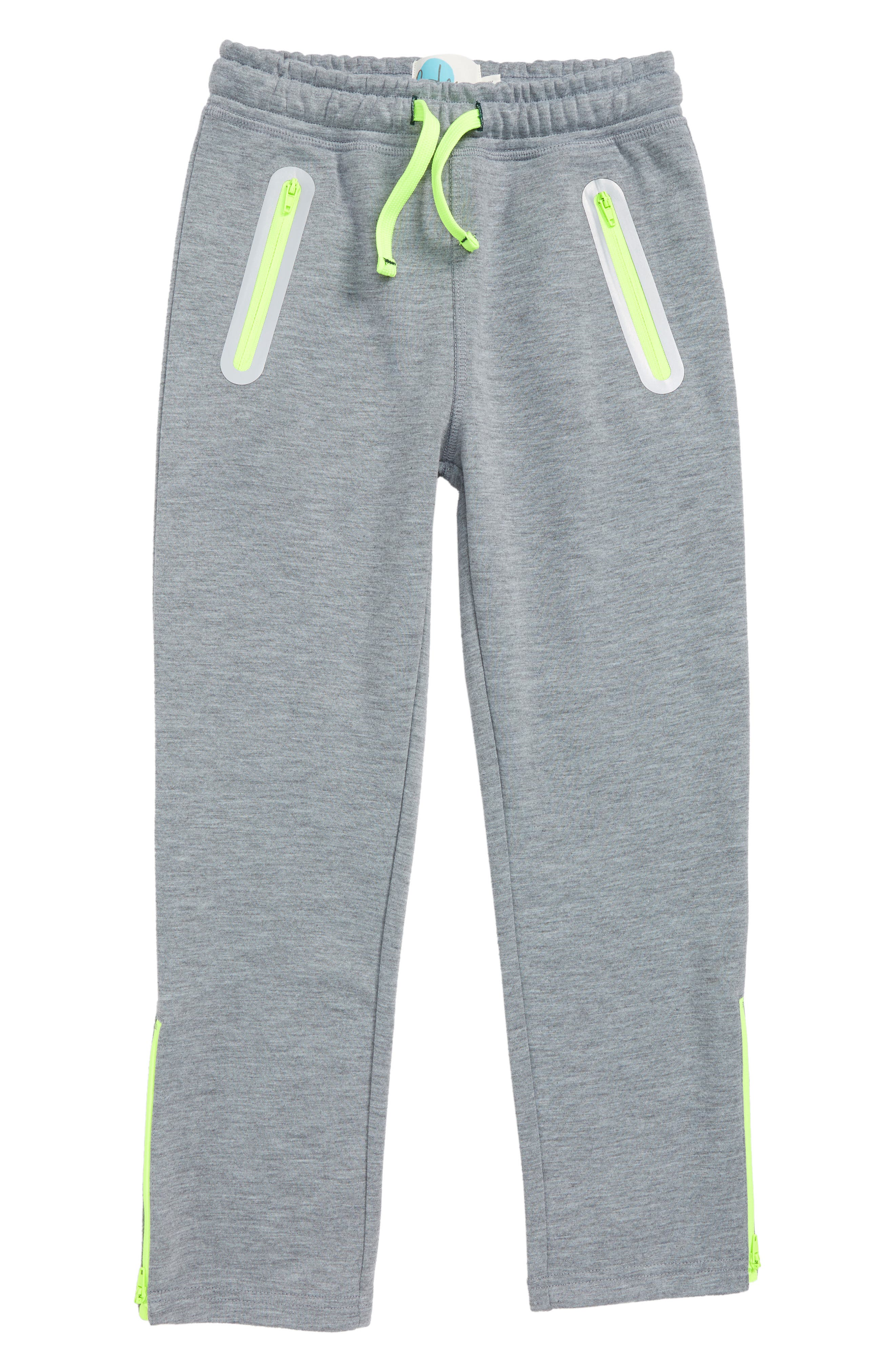 Boys Mini Boden Active Track Pants Size 6Y  Grey