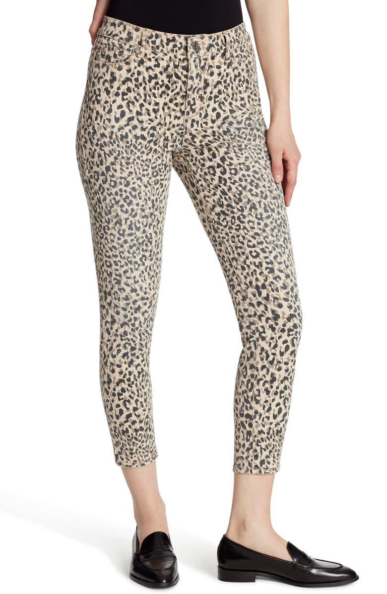 ELLA MOSS High Waist Skinny Ankle Jeans, Main, color, CHEETAH DABS