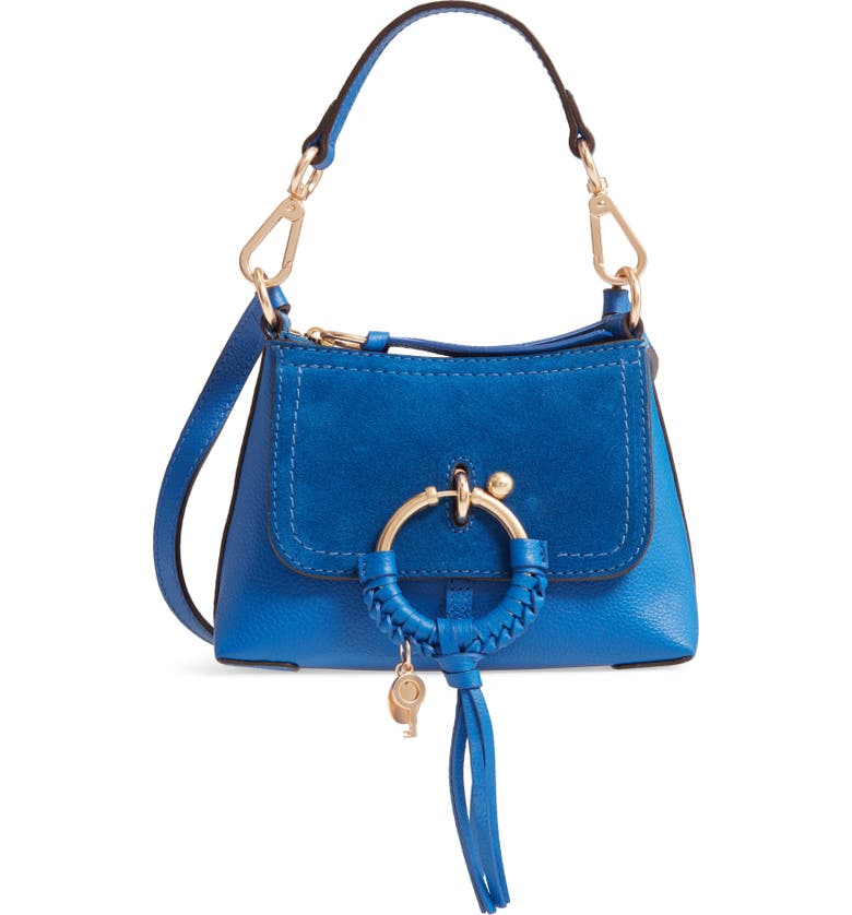 SEE BY CHLOÉ Mini Joan Leather Crossbody Bag, Main, color, ABSOLUTE BLUE