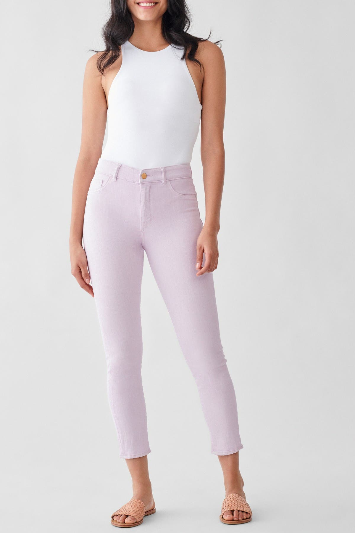 Image of DL1961 Farrow Ankle High Rise Skinny Jeans
