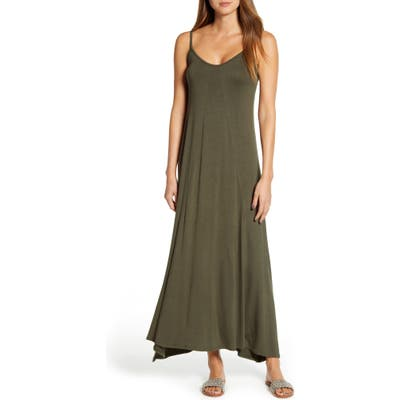 Loveappella Knit Maxi Dress, Green