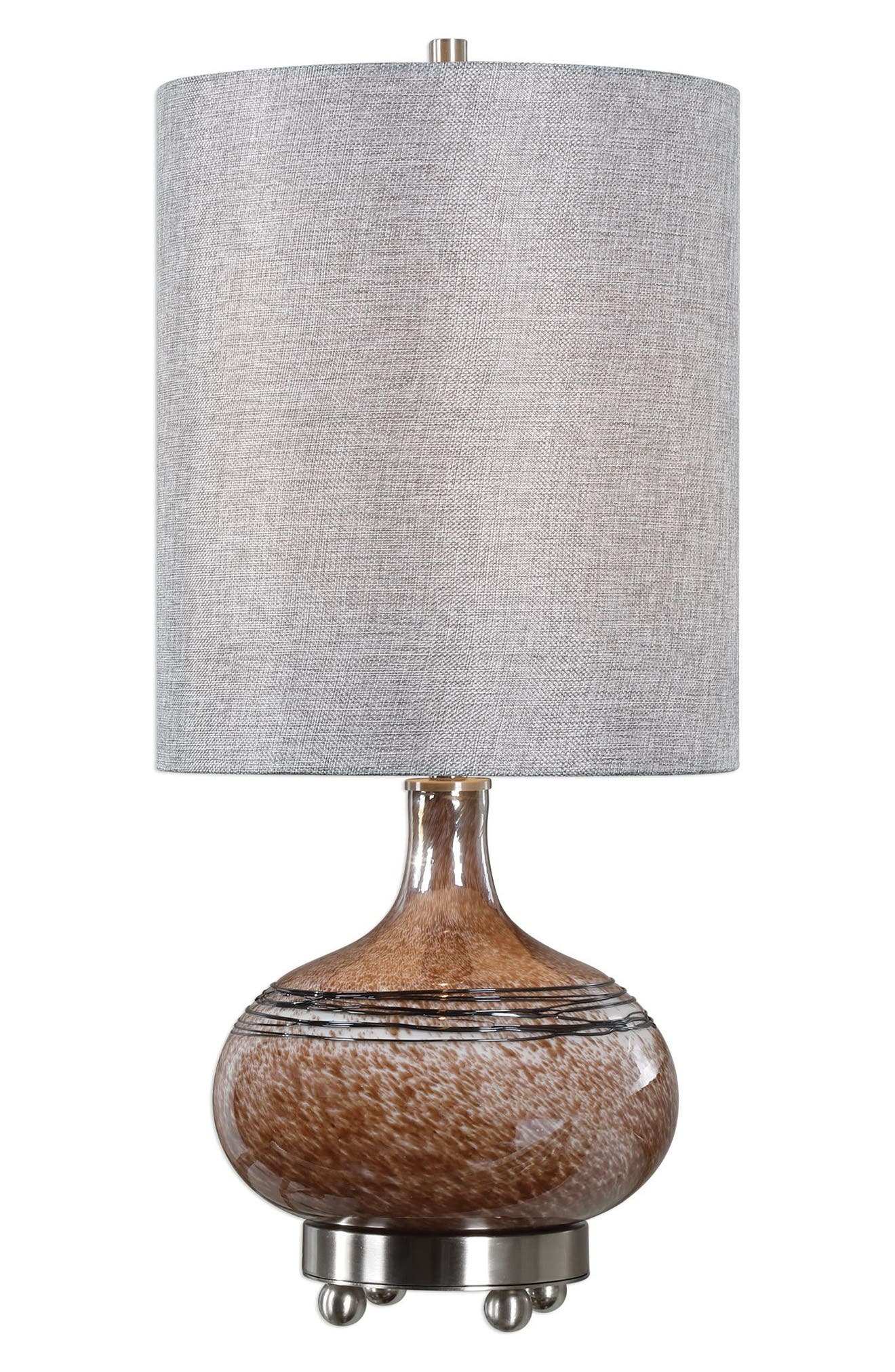 Uttermost Judsonia Rust Glass Accent Lamp Size One Size  Metallic