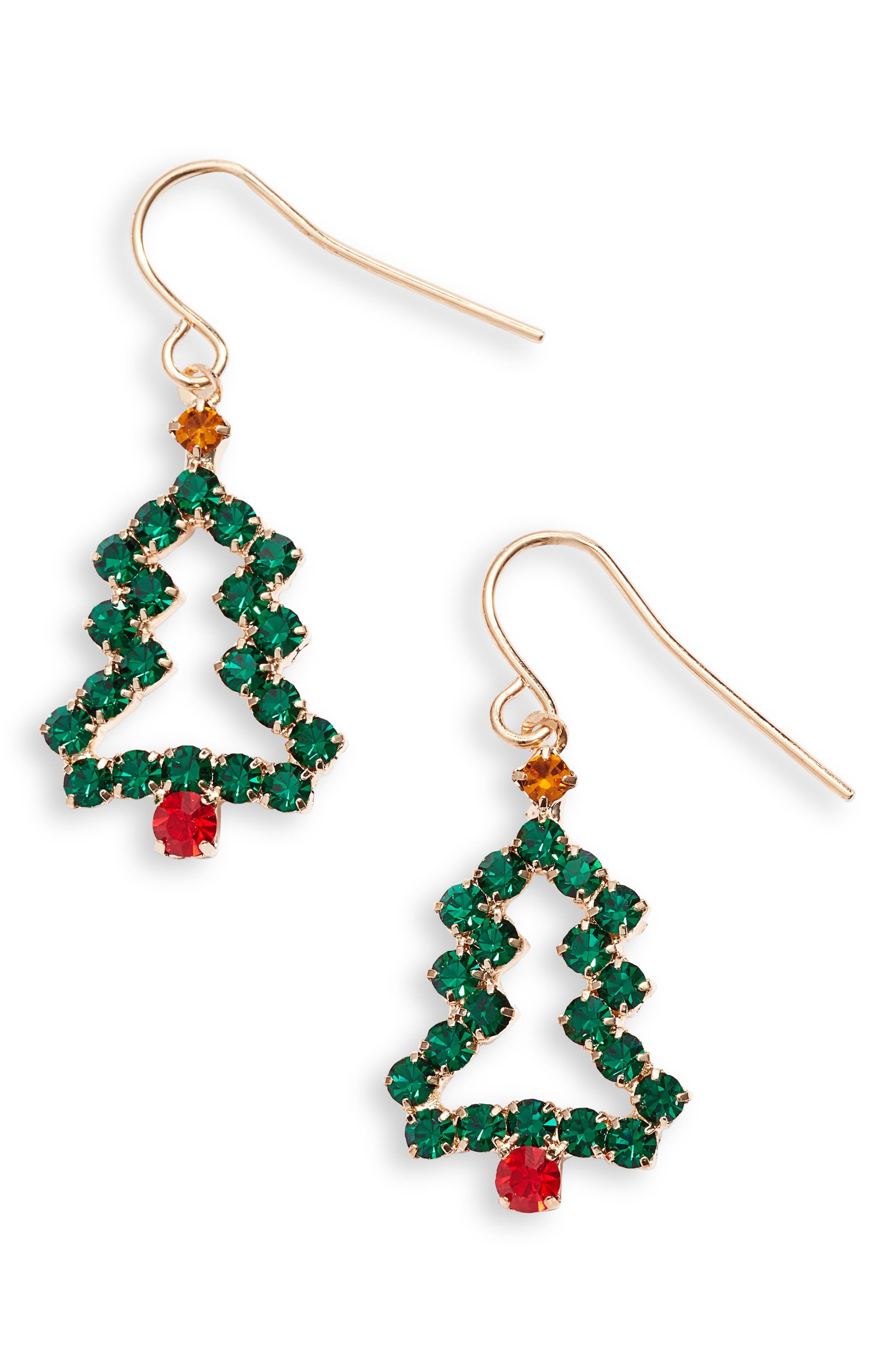Crystal Open Tree Earrings