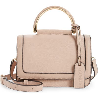 Sole Society Small Evar Faux Leather Crossbody Bag - Pink