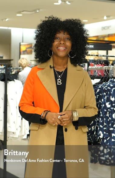 Daria Floral Off the Shoulder Long Sleeve Silk Midi Dress, sales video thumbnail