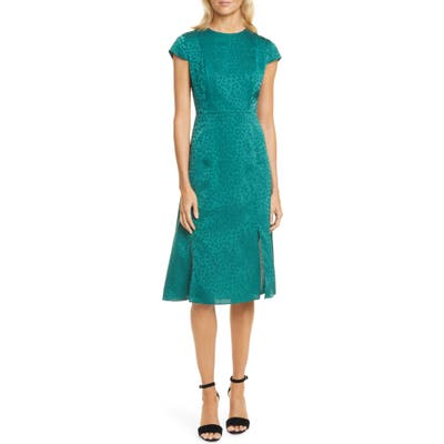 Ted Baker London Leopard Jacquard Dress, (fits like 4-6 US) - Green