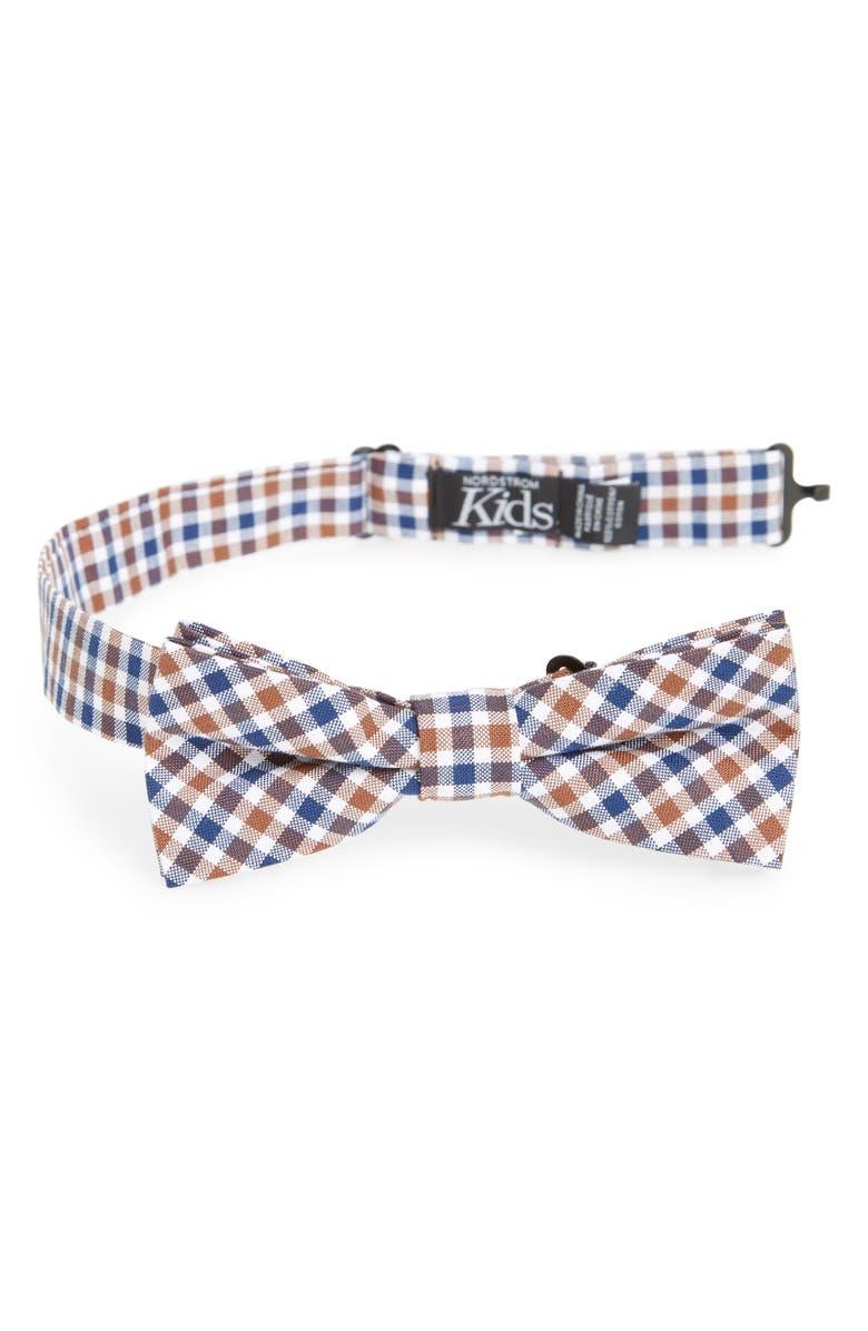 NORDSTROM Plaid Cotton Bow Tie, Main, color, 260
