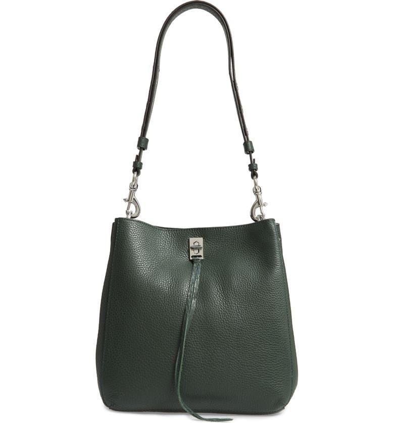 REBECCA MINKOFF Darren Deerskin Leather Shoulder Bag, Main, color, 302