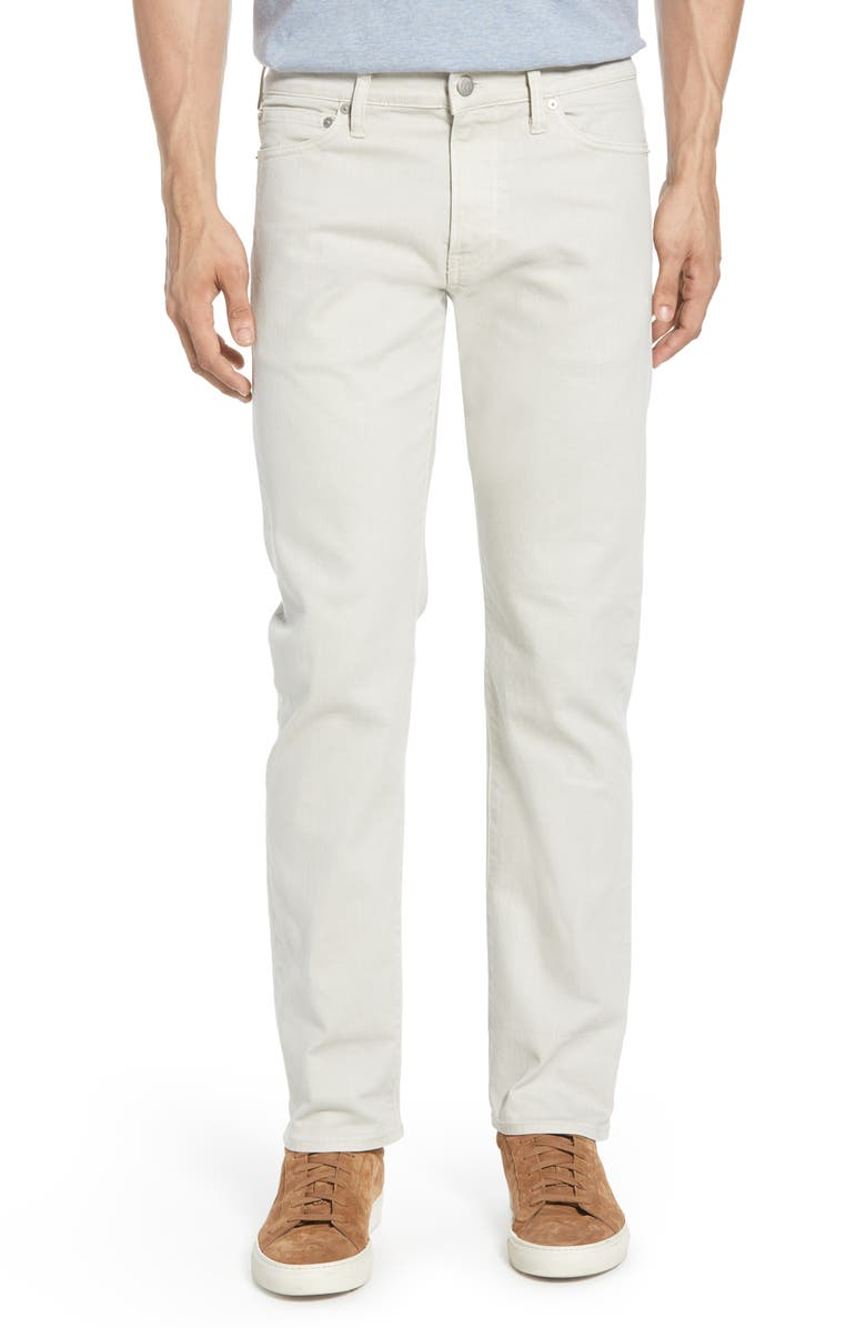 MADEWELL Garment Dyed Slim Fit Jeans, Main, color, FORM GREY