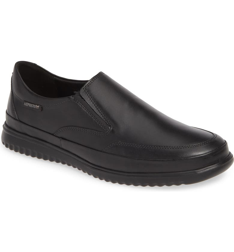 MEPHISTO Twain Slip-On, Main, color, BLACK LEATHER