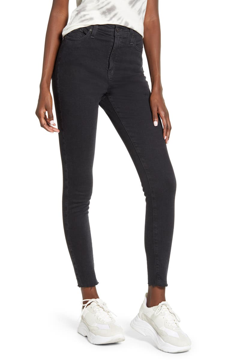 AG The Mila High Waist Skinny Jeans, Main, color, ALTERED BLACK