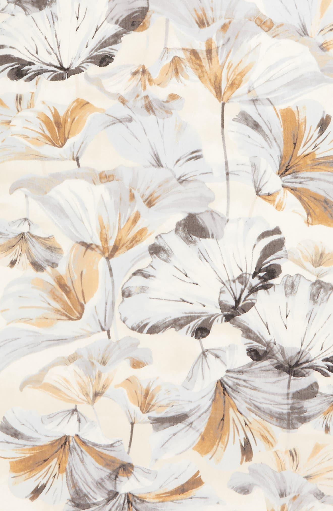 ,                             Eyelash Trim Print Cashmere & Silk Wrap,                             Alternate thumbnail 4, color,                             GREY GARDEN GIRL