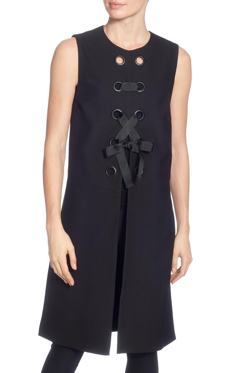 CATHERINE CATHERINE MALANDRINO Ennio Grommet Tie Vest, Main, color, 001