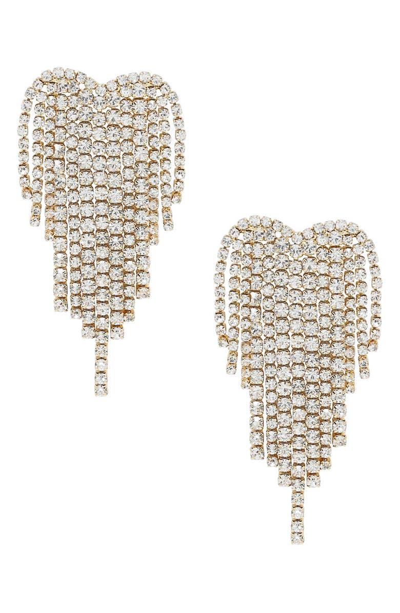 ETTIKA Crystal Chandelier Earrings, Main, color, GOLD