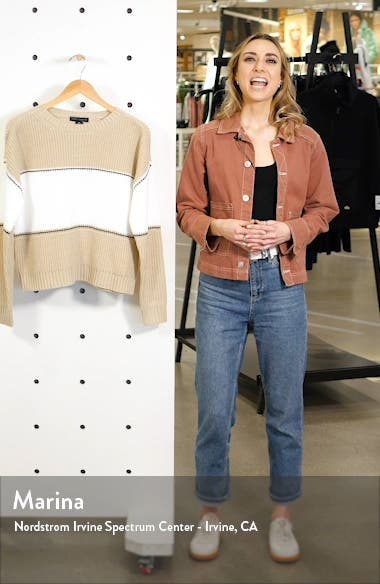 Billie Colorblock Shaker Stitch Sweater, sales video thumbnail