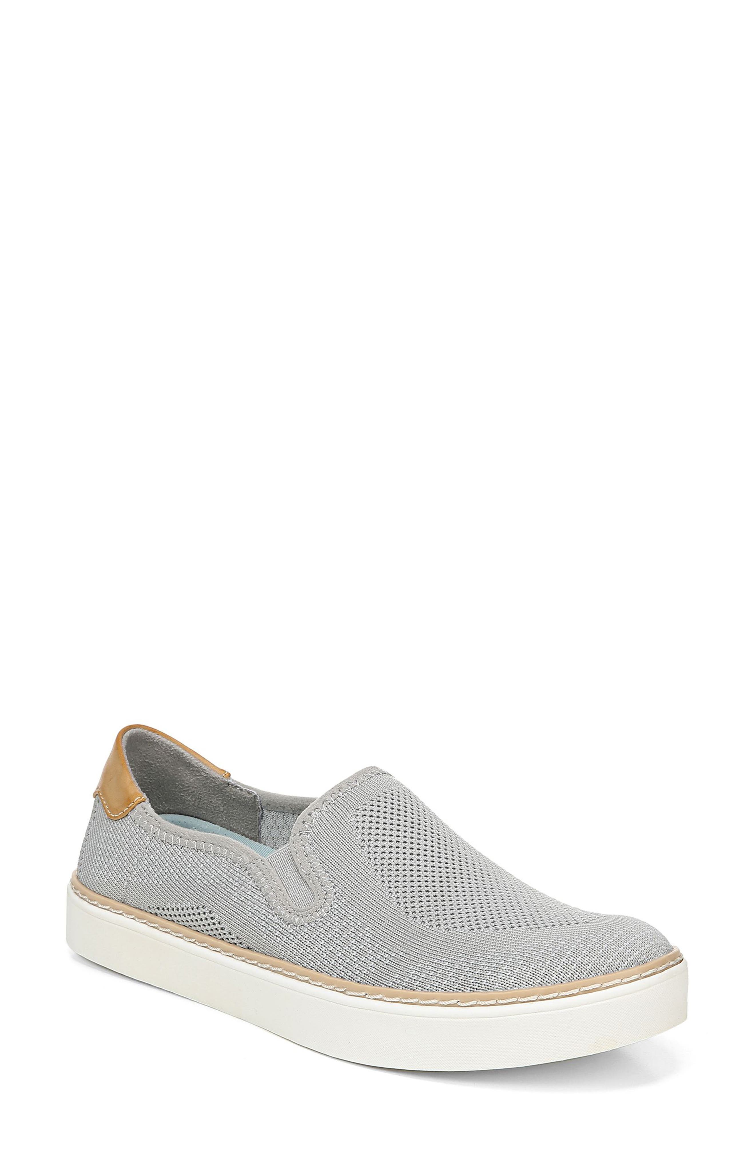 Madi Slip-On Sneaker, Main, color, GREY KNIT FABRIC