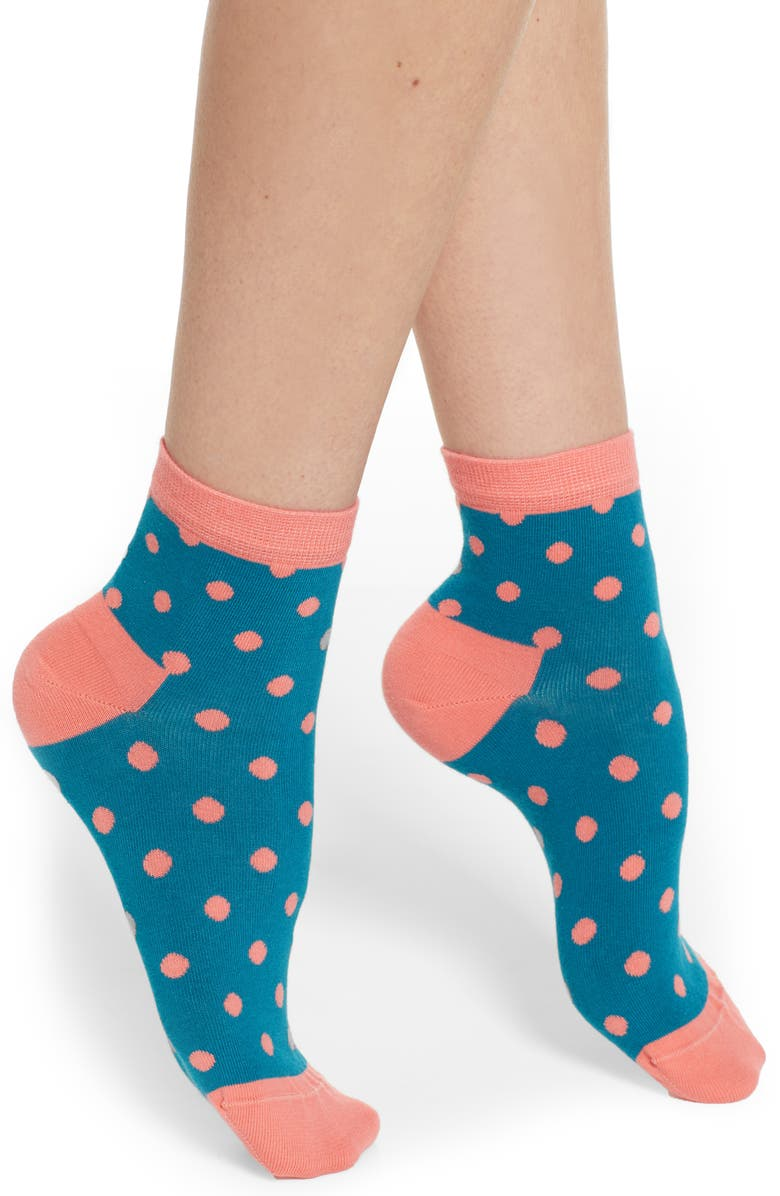 HAPPY SOCKS Dots Ankle Socks, Main, color, 310