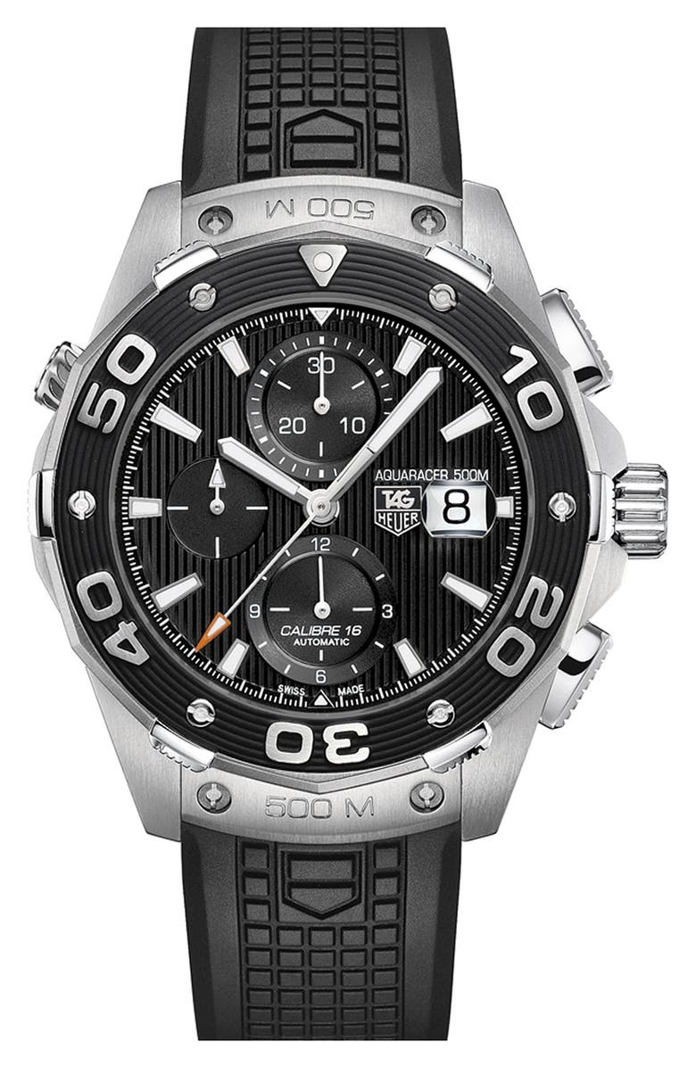 TAG HEUER 'Aquaracer' Automatic Chronograph Watch, Main, color, 001