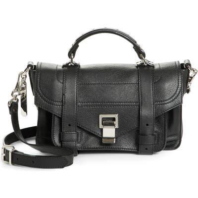 Proenza Schouler Tiny Ps1 Grainy Leather Satchel - Black
