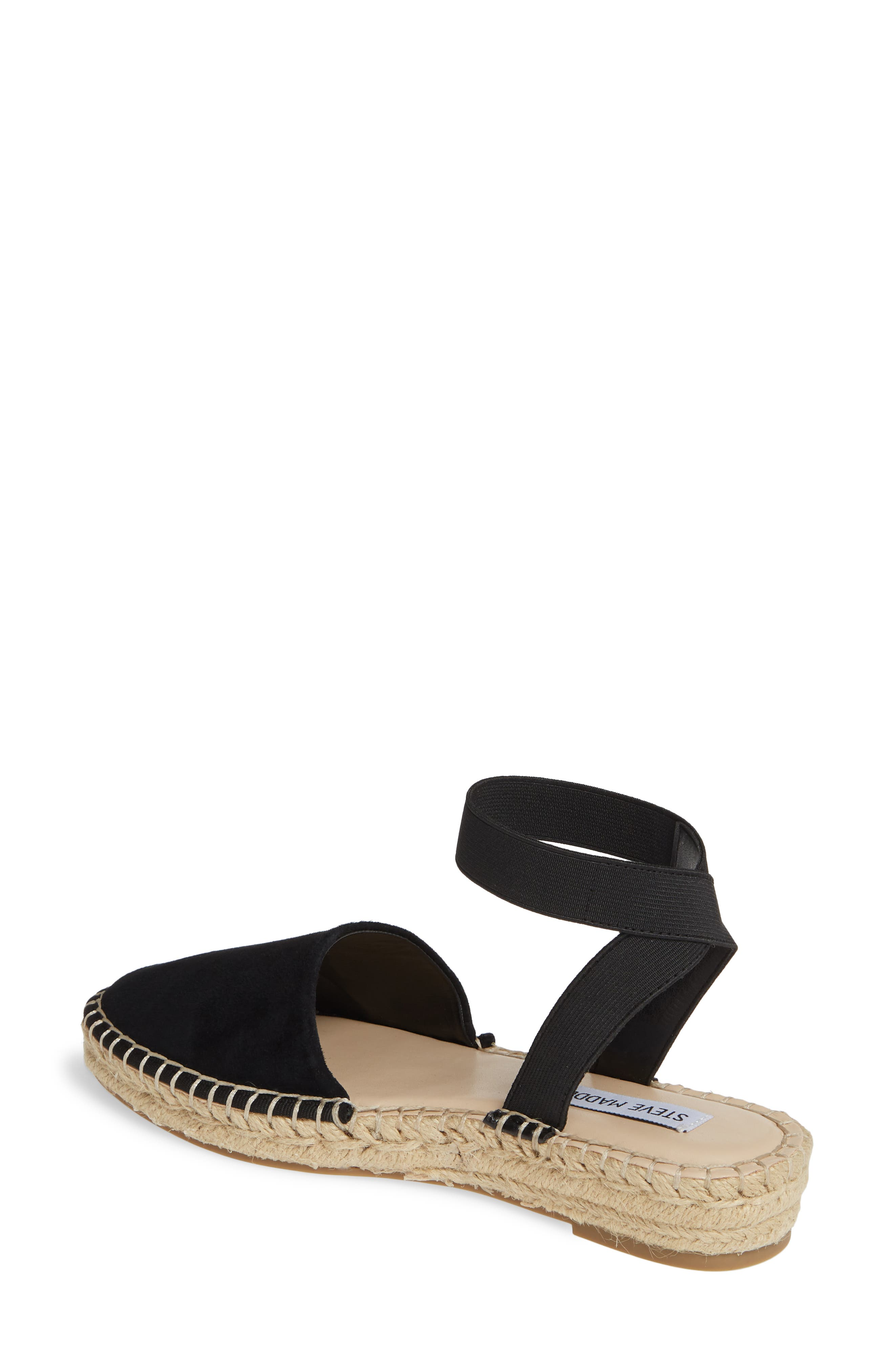 ,                             Moment Strappy Espadrille Sandal,                             Alternate thumbnail 2, color,                             BLACK SUEDE