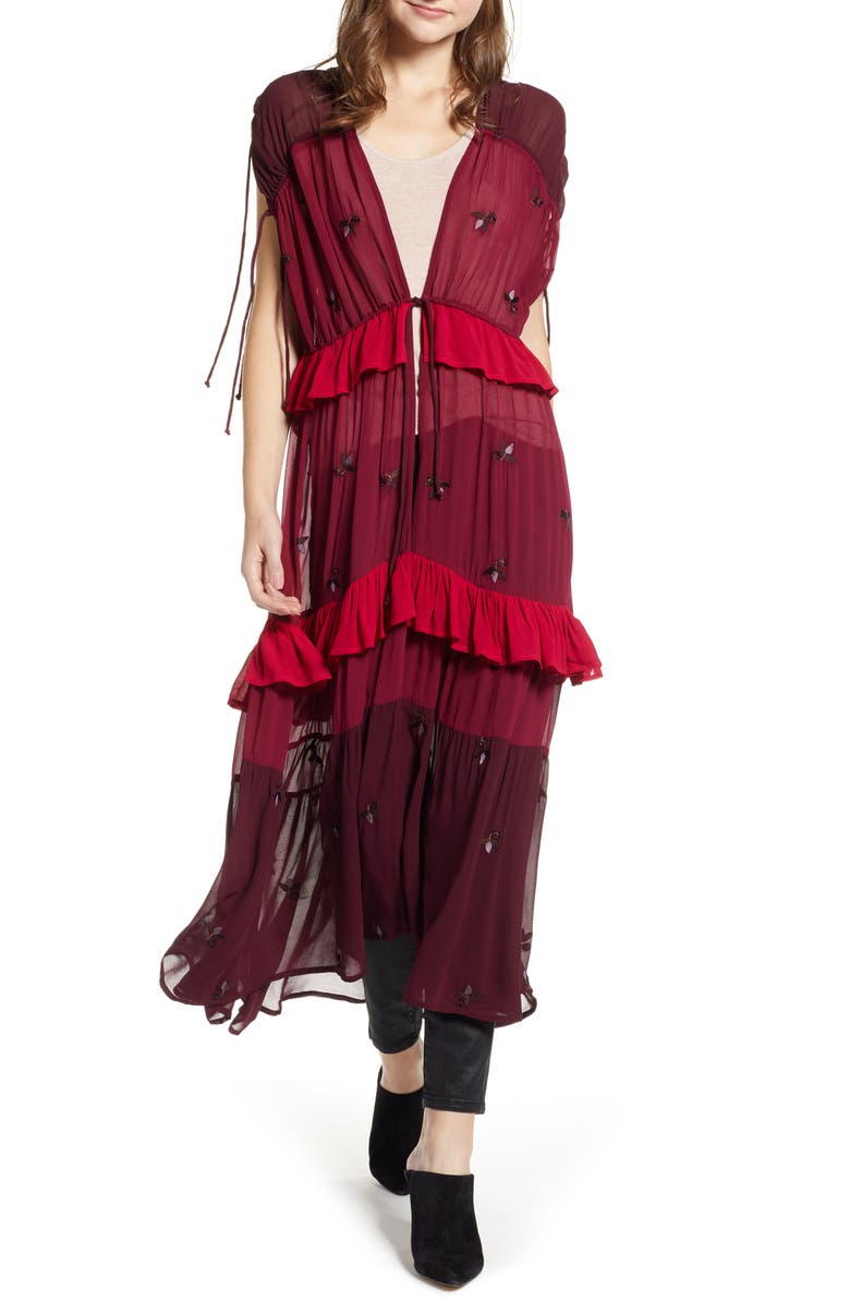 NFC New Friends Colony Sheer Garden Party Duster, Main, color, 692