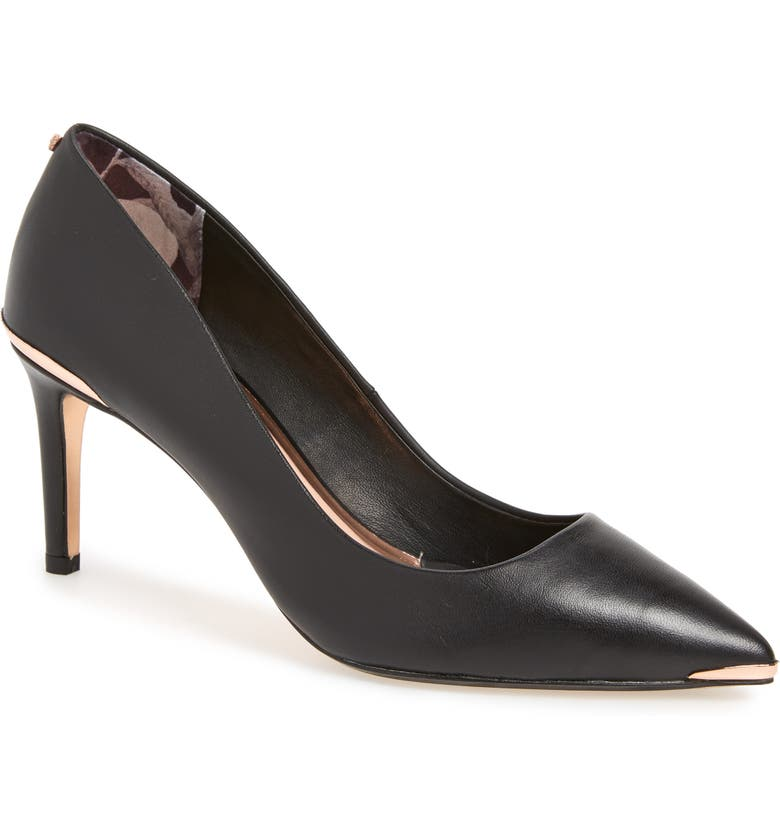 TED BAKER LONDON Wishiri Pump, Main, color, BLACK LEATHER
