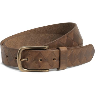 Trask Douglas Leather Belt, Brown