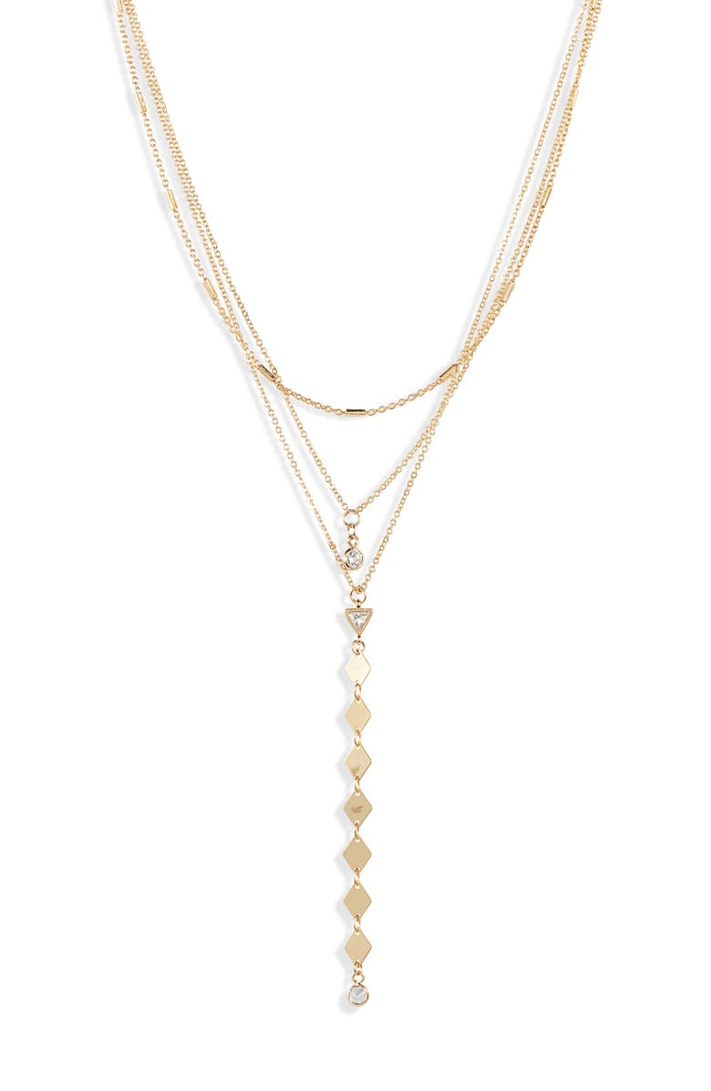 ETTIKA Bella Multistrand Lariat Necklace, Main, color, 710