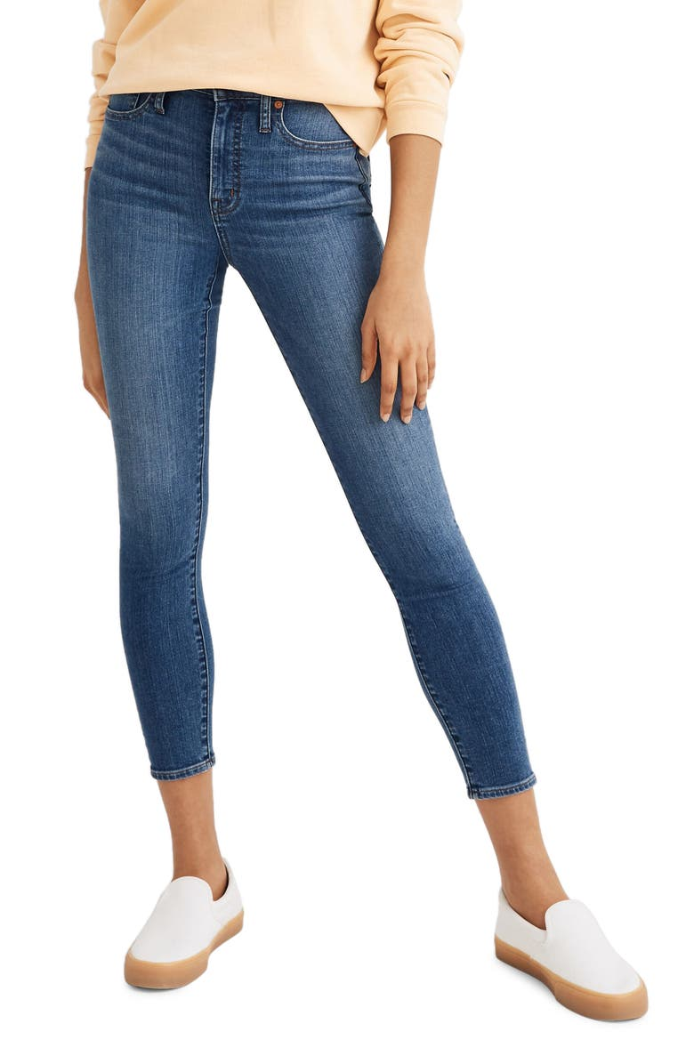 MADEWELL Curvy High Waist Crop Skinny Jeans, Main, color, DALSTROM