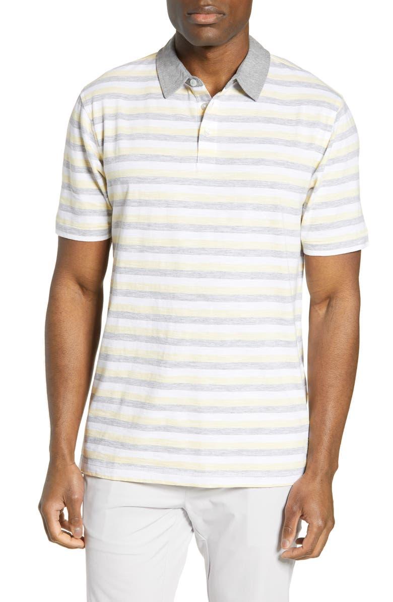 LINKSOUL Stripe Polo, Main, color, WHEAT