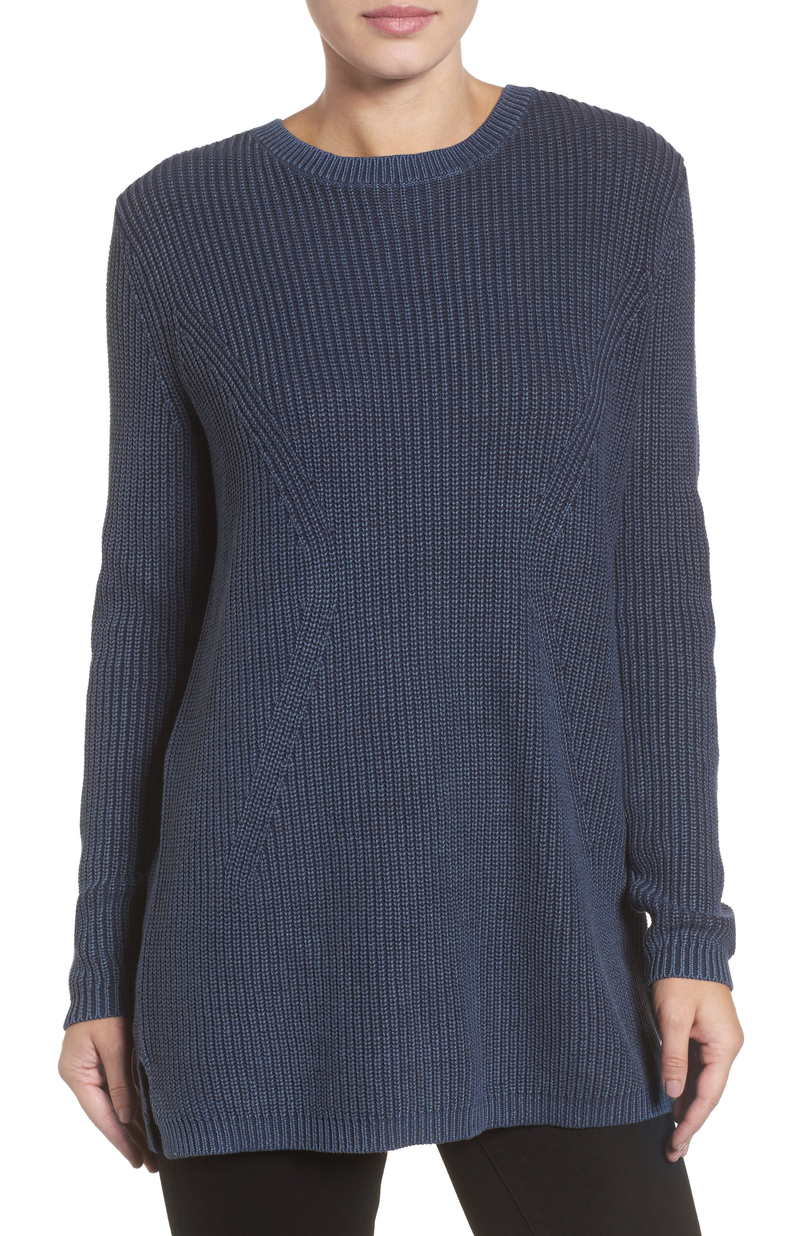 ,                             Tie Back Tunic Sweater,                             Main thumbnail 43, color,                             410