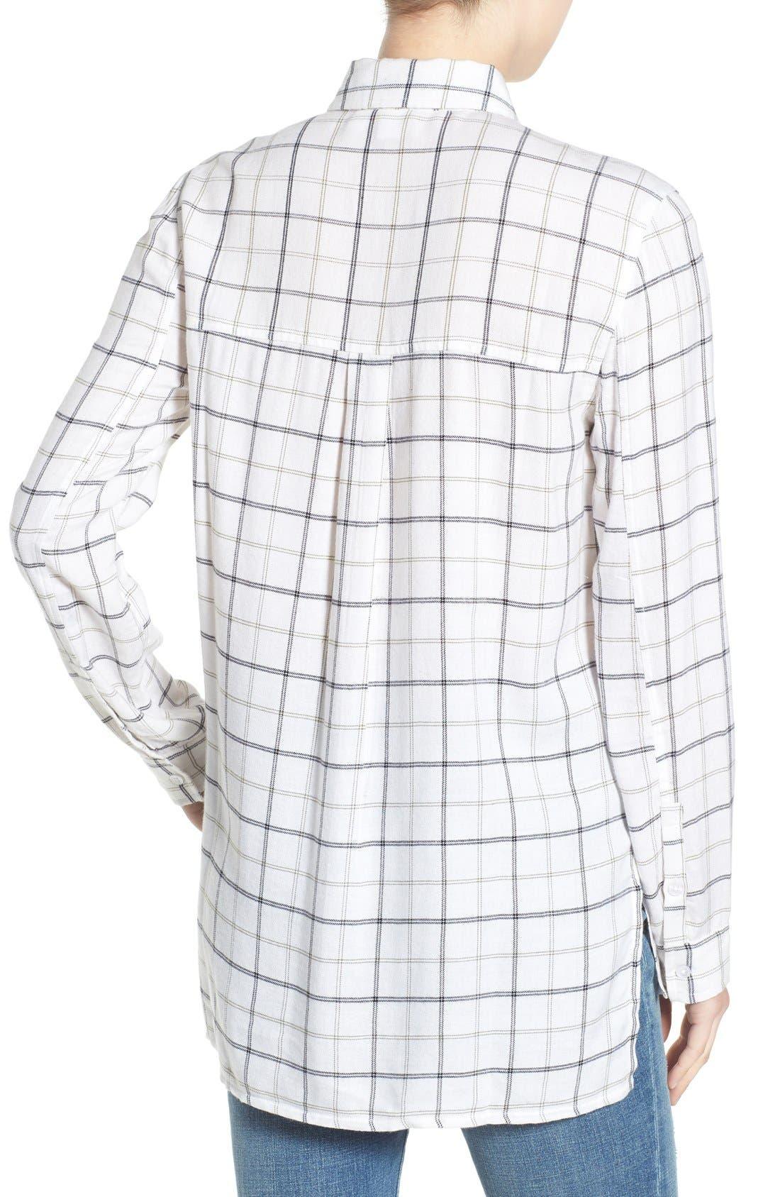 ,                             Plaid Tunic Shirt,                             Alternate thumbnail 16, color,                             100