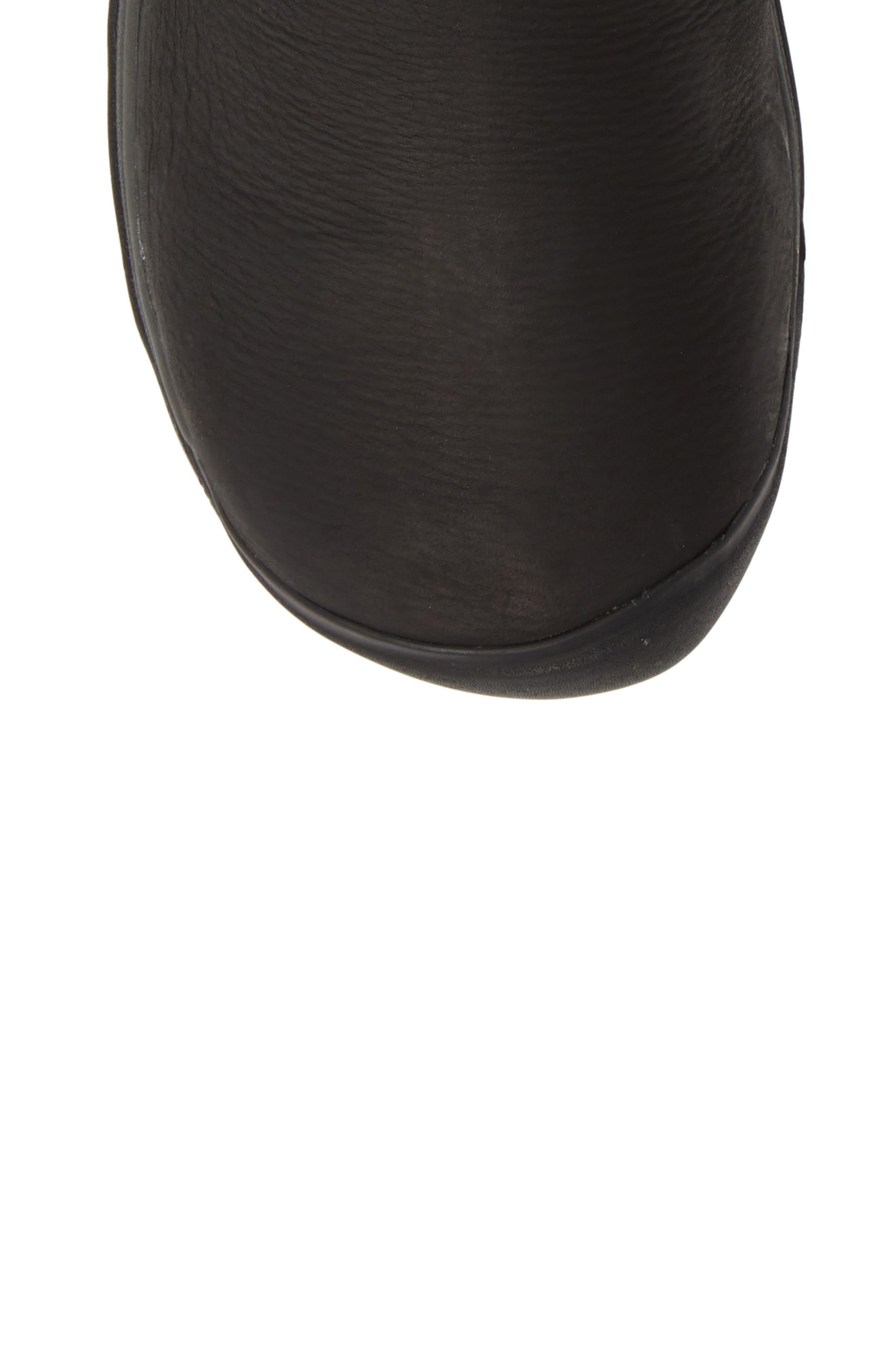 ,                             Presidio II Waterproof Boot,                             Alternate thumbnail 5, color,                             BLACK/ MAGNET LEATHER