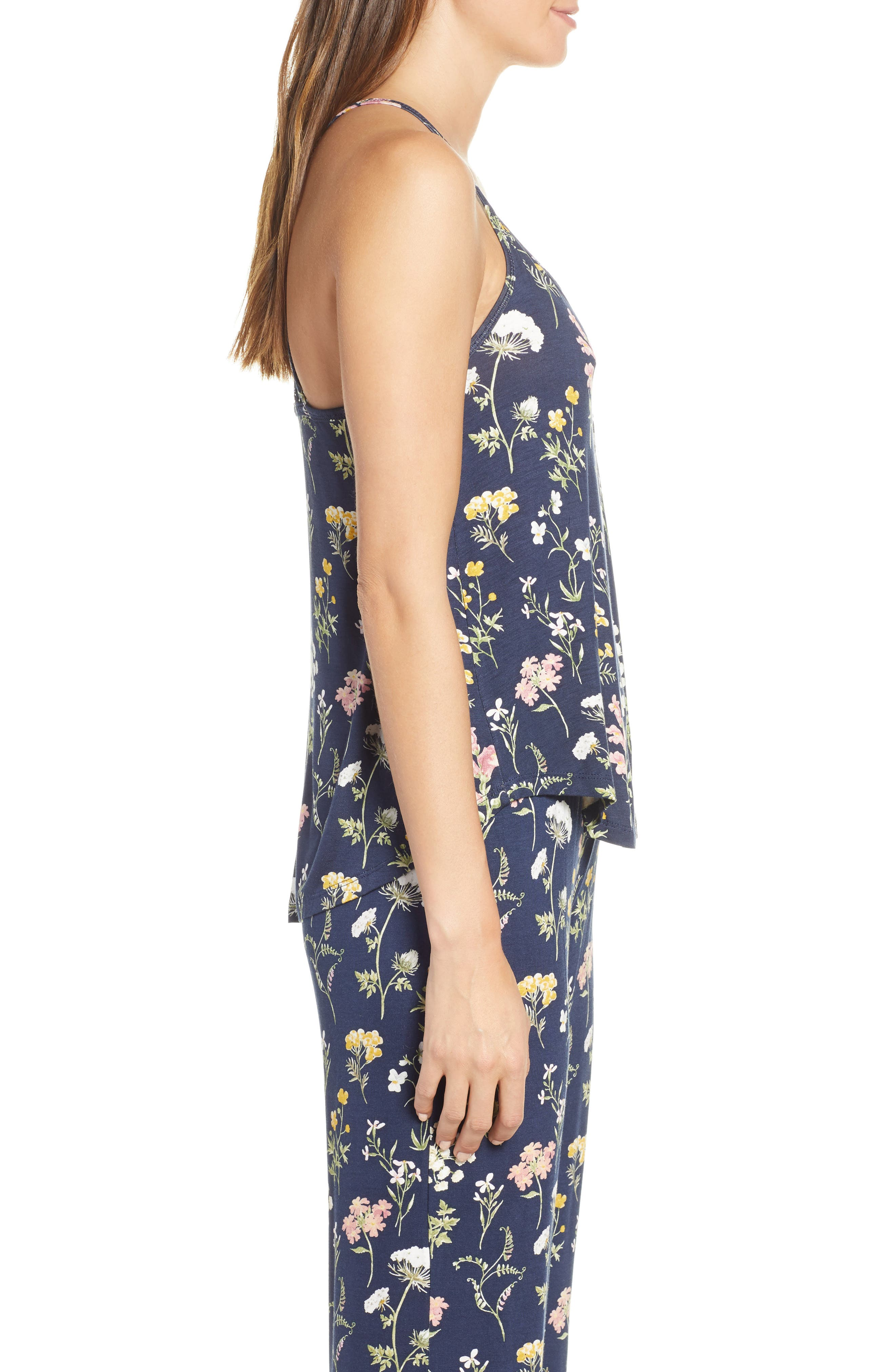 ,                             Dreams Bloom Jersey Camisole,                             Alternate thumbnail 3, color,                             MIDNIGHT BLUE