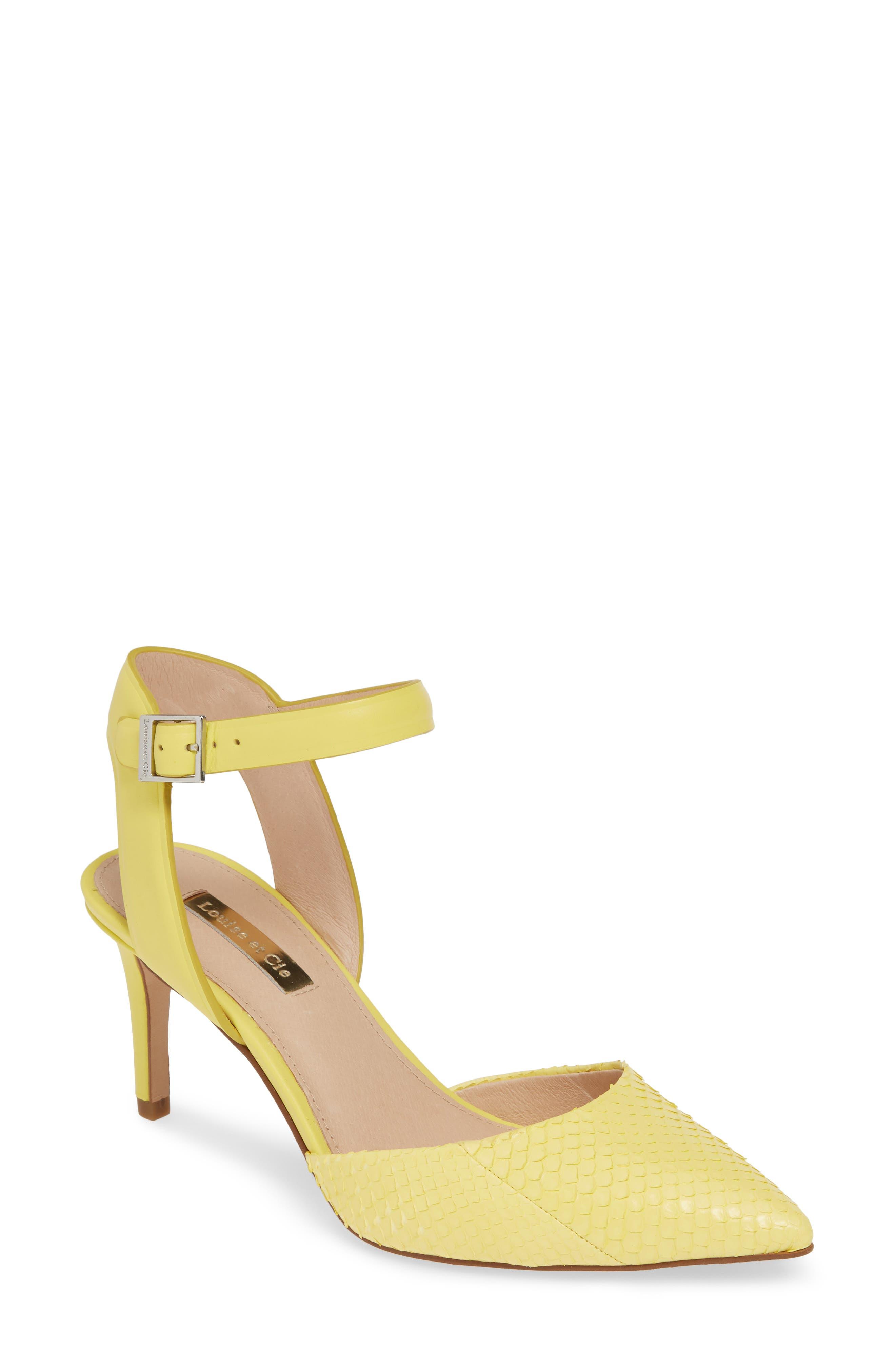 Louise Et Cie Kota Ankle Strap Pump, Yellow