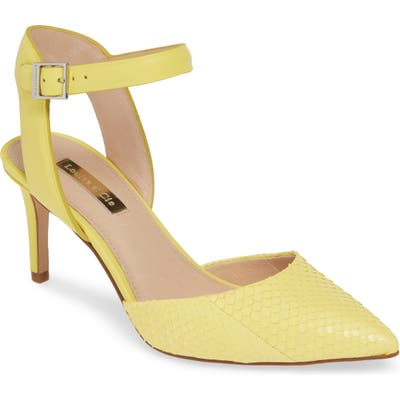 Louise Et Cie Kota Ankle Strap Pump, Yellow