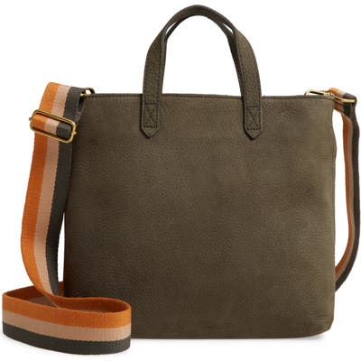 Madewell The Zip Top Transport Leather Crossbody Bag - Brown