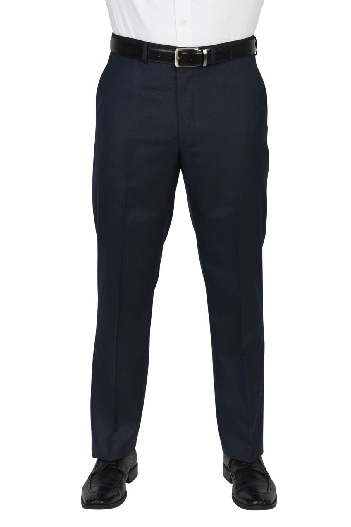 """Image of Dockers Solid Flat Front Stretch Fabric Modern Fit Suit Separate Pants - 30-32"""" Inseam"""