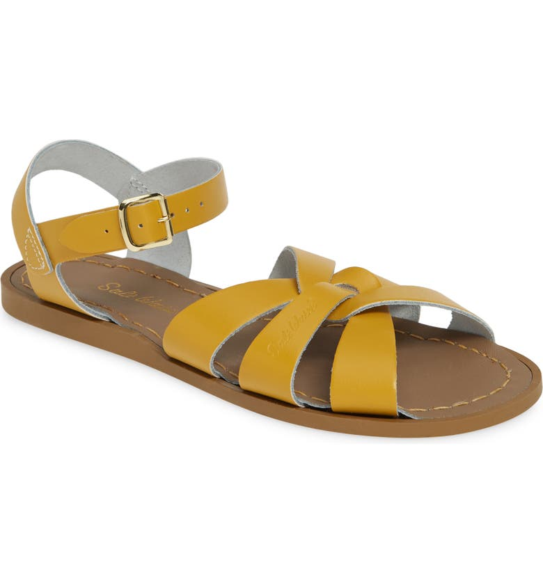 SALT WATER SANDALS BY HOY Water Friendly Sandal, Main, color, MUSTARD