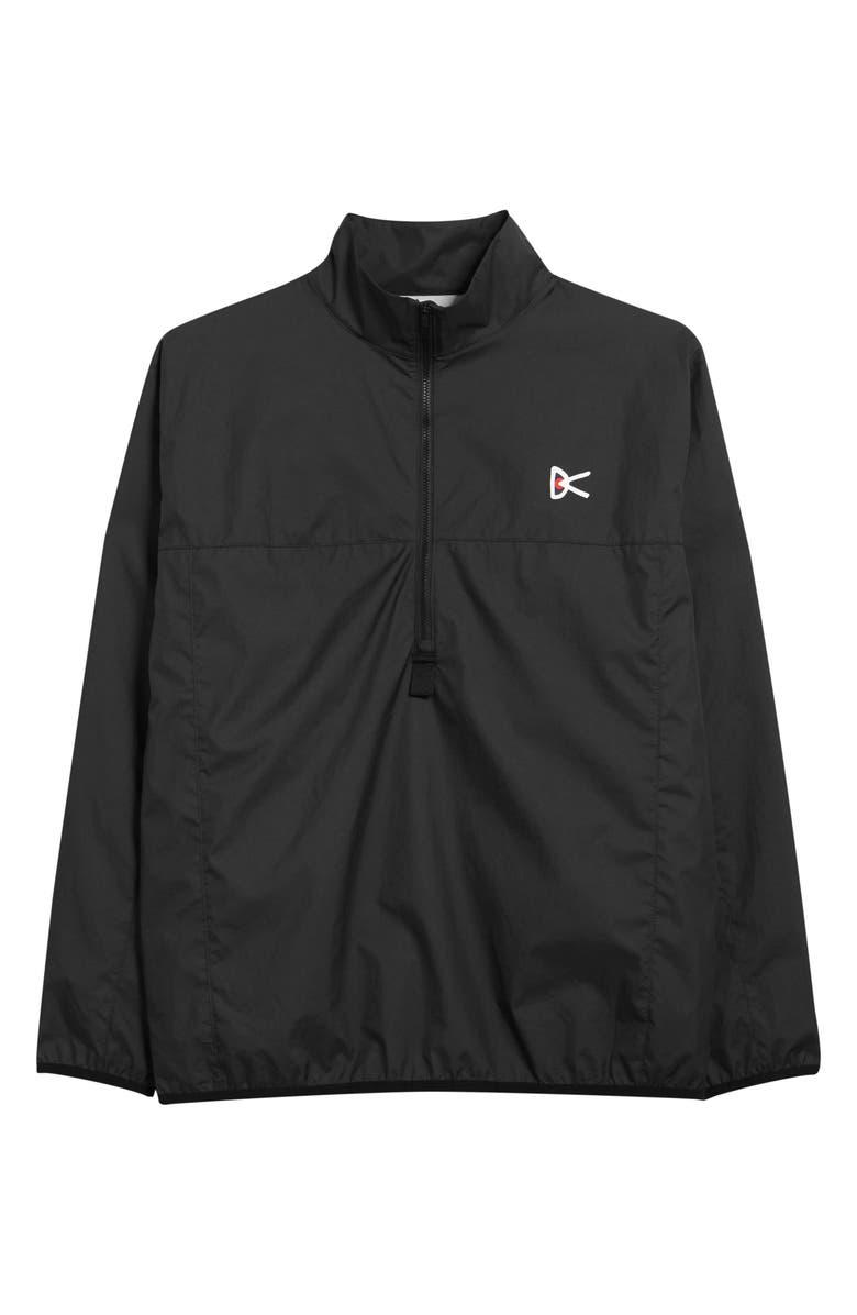 DISTRICT VISION Theo Waterproof Half Zip Jacket, Main, color, BLACK