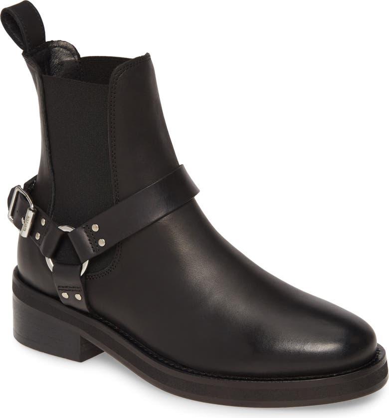 ALLSAINTS Salome Moto Boot, Main, color, BLACK LEATHER