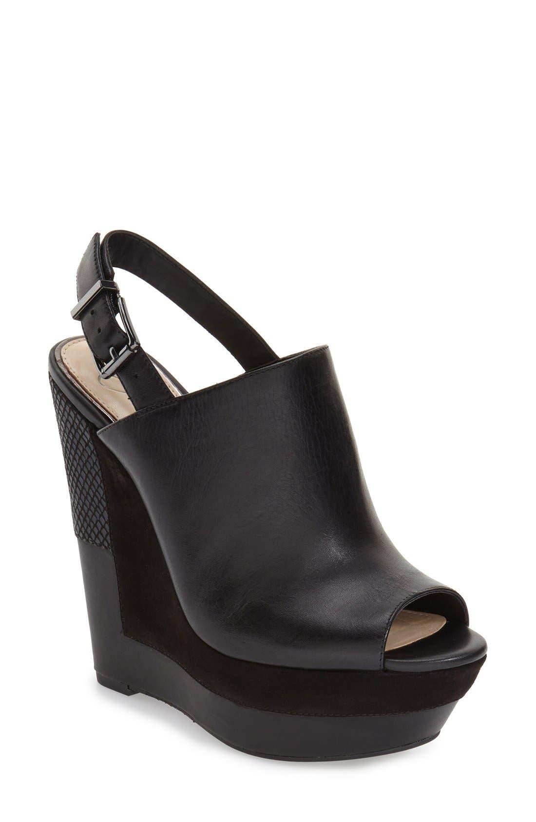 'Radina' Wedge Sandal, Main, color, 002