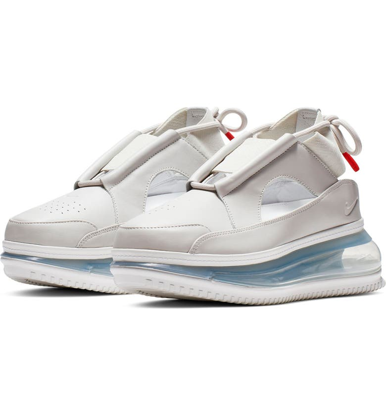NIKE Air Max FF 720 Cutout Sneaker, Main, color, SUMMIT WHITE/ LIGHT BROWN