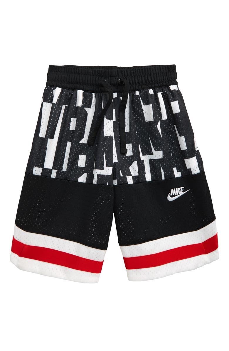 NIKE Air Mesh Shorts, Main, color, WHITE / BLACK