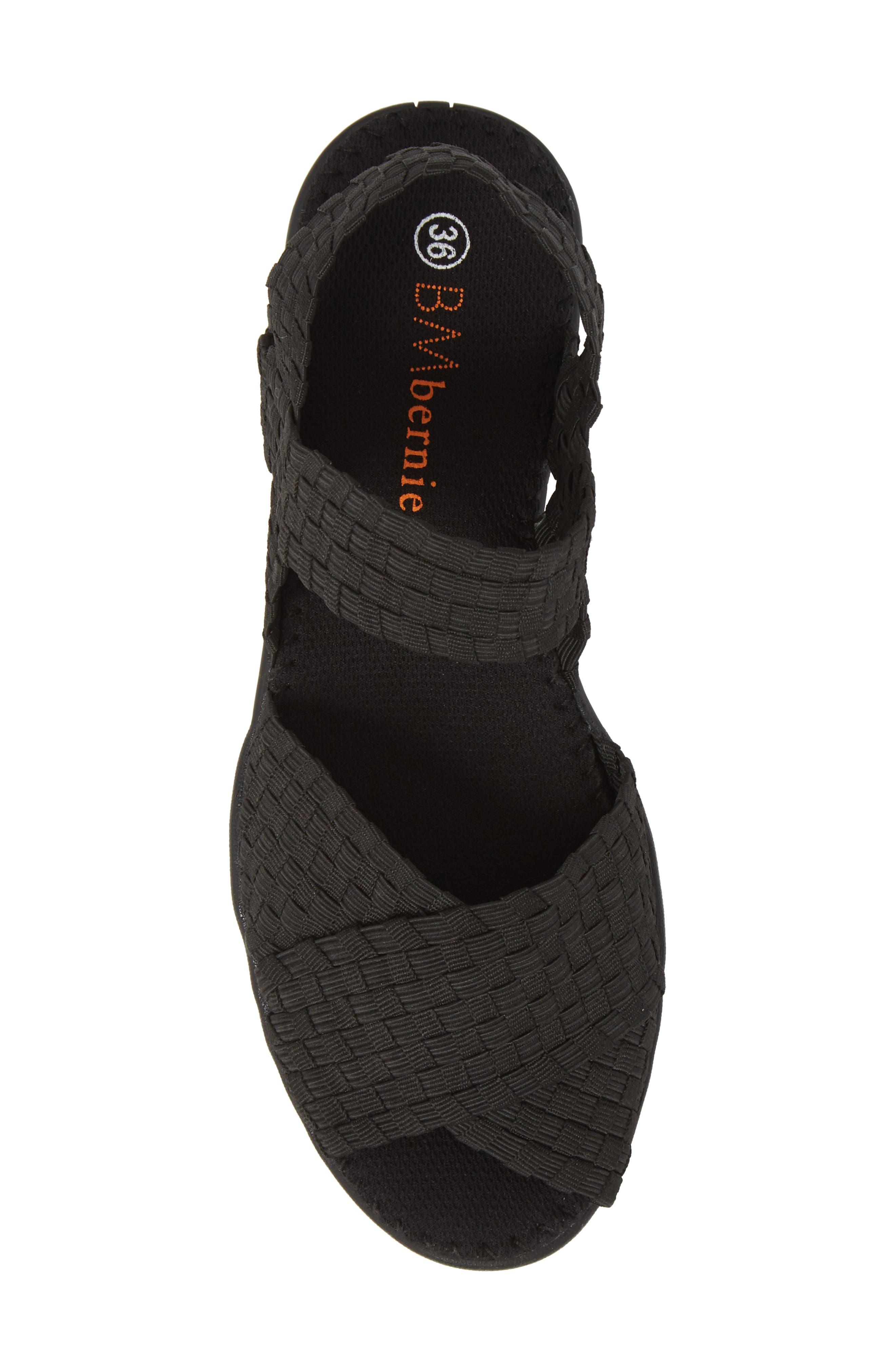 ,                             Balmy Sandal,                             Alternate thumbnail 5, color,                             BLACK FABRIC