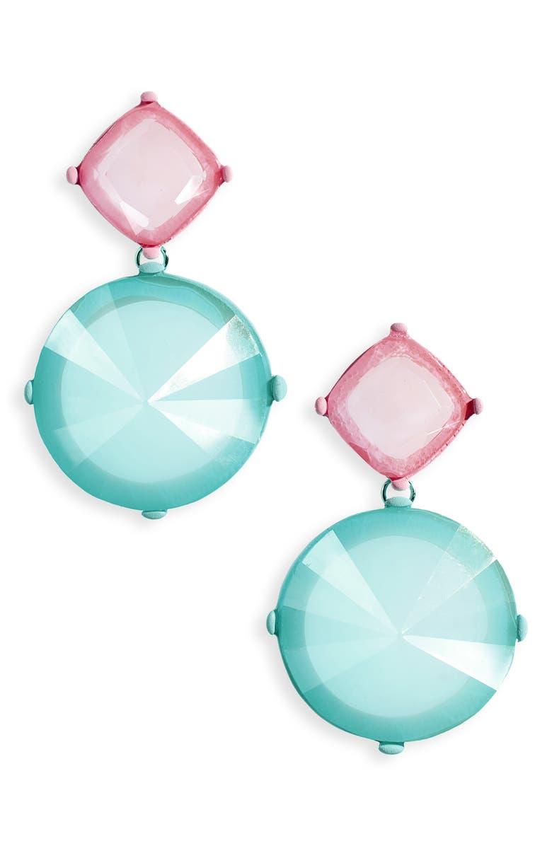 BP. Bicolor Shape Drop Earrings, Main, color, 450
